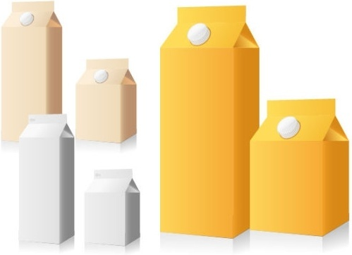 empty beverage packaging vector
