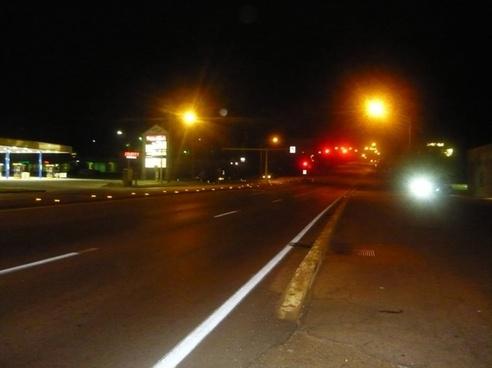 empty night highway