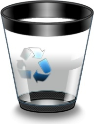 Empty recycle glass