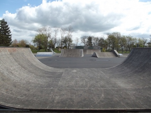 empty skate park