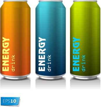 energy drink water cans