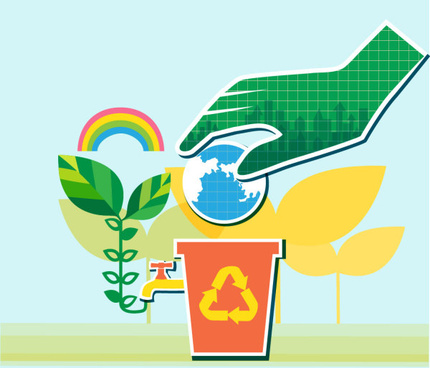 energy with environment infographics vector