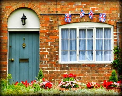 england british flag doorway