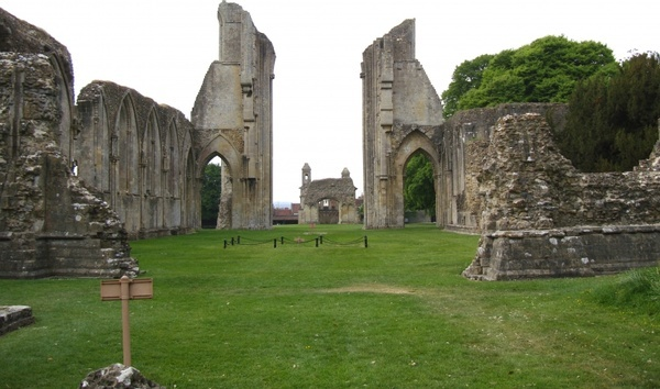england great britain glastonbury abbey