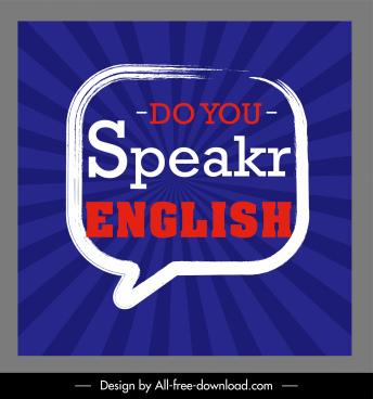 english education banner flat texts speech bubbles decor