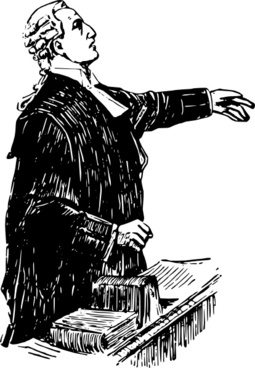 English Lawyer Early Th Century clip art