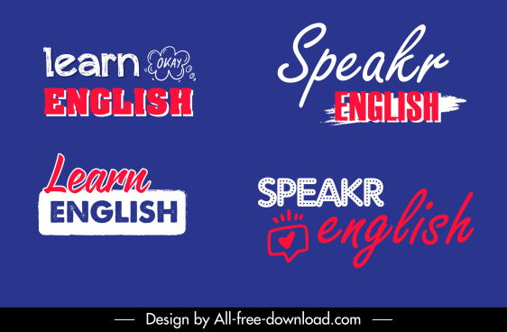 english study logotypes calligraphic texts sketch