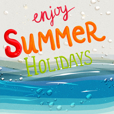 enjoy summer holiday background