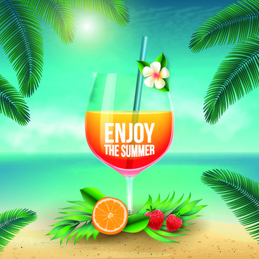 enjoy summer holiday vector art background