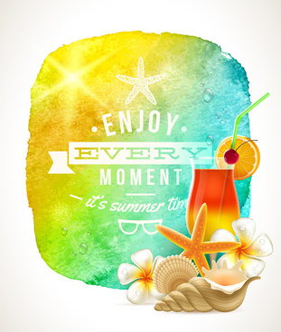 enjoy summer time creative vector