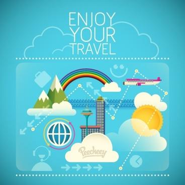 enjoy your travel illustration