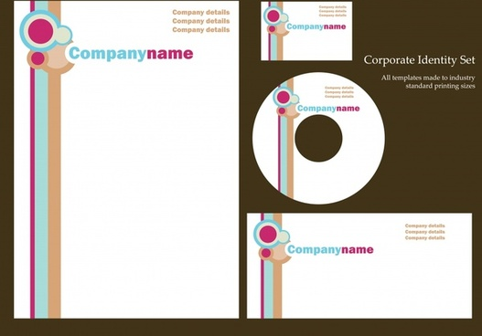 corporate identity sets modern abstract circles decor