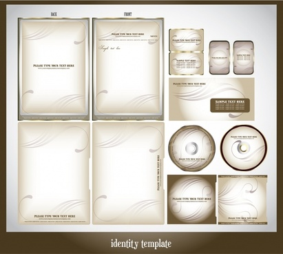 corporate identity templates modern bright curves decor