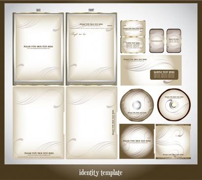 corporate identity templates modern bright curves decor