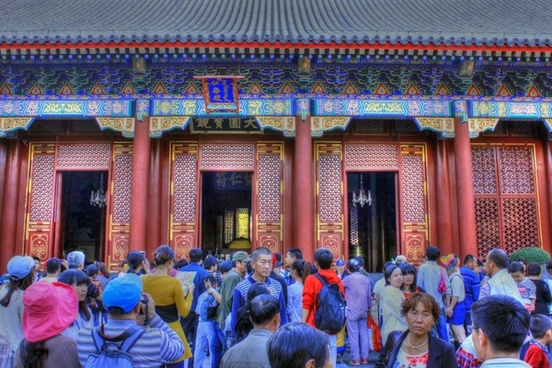 entrance of summer palace in beijing china