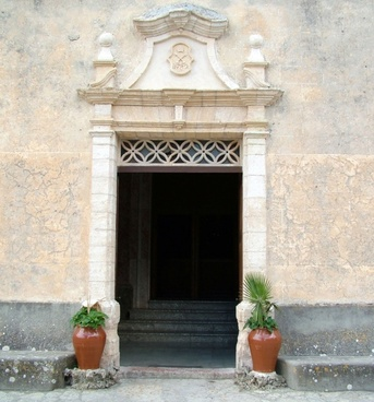 entrance to the church