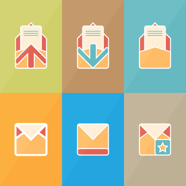 envelope icons collection