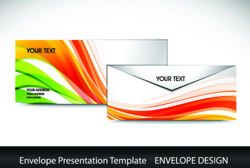 envelope presentation template design vector