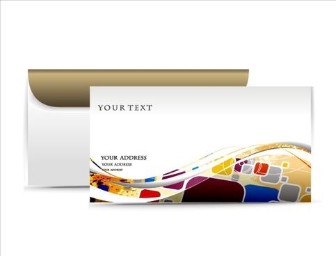 envelope card template modern dynamic colorful geometric decor