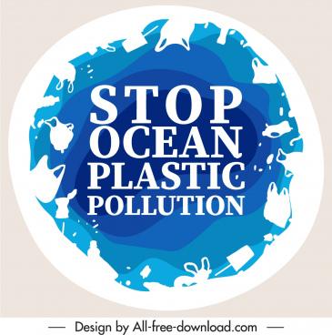 environment protection banner flat rubbish circle layout