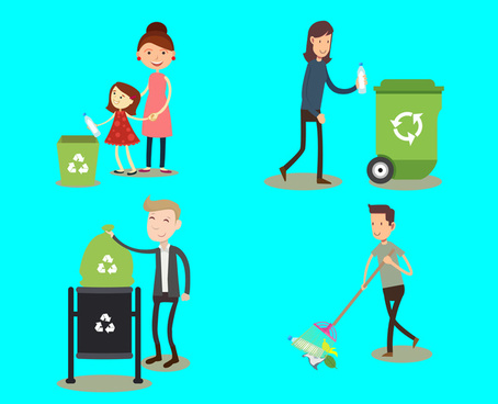 environment protection poster with good habits illustration