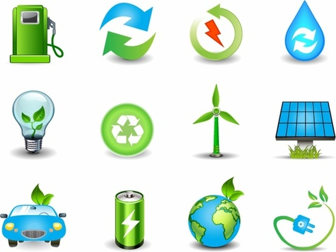 Environmental and Green Energy Icons
