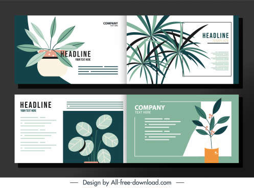 environmental brochure templates elegant classical leaves decor