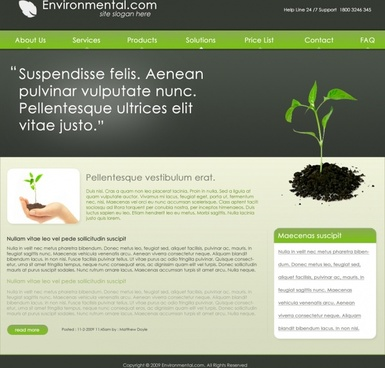 Environmental Free PSD Template