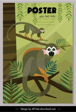 environmental poster primate species decor classic design