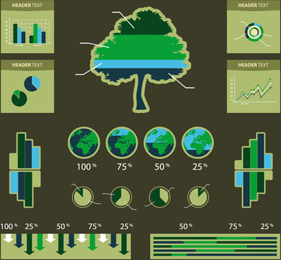 environmental protection infographics vector