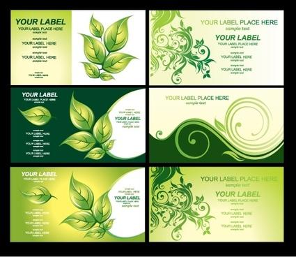 environmental theme card template vector 3