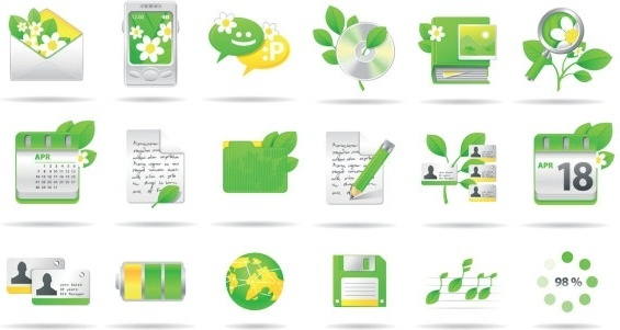 environmental theme icon vector