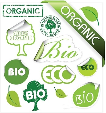 environmental theme stickers icon vector