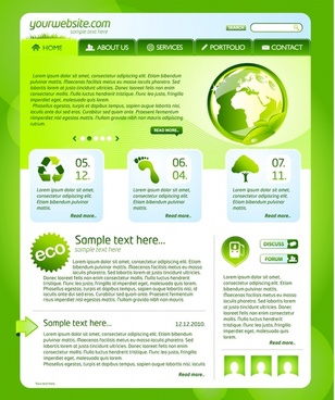 environmental theme web template vector
