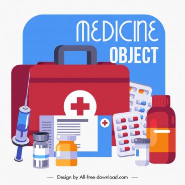 epidemic banner medicine elements sketch