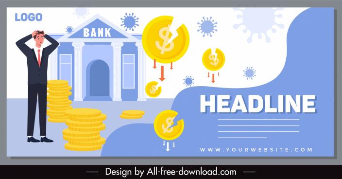 epidemic finance banner coins viruses bank sketch