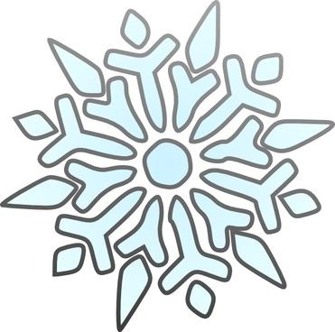 Erik Single Snowflake clip art