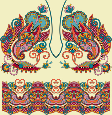 ethnic decorative pattern floral vector