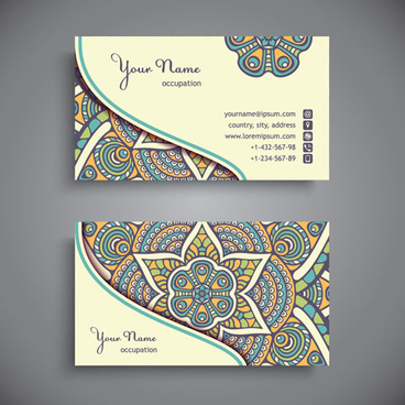 Vector stamp card vintage free vector download 18588 free vector ethnic pattern business card vintage vector reheart Gallery