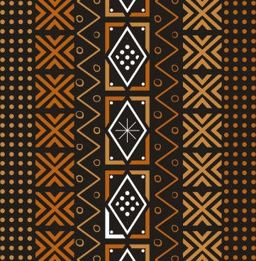 ethnic pattern classical dark style symmetric repeating design