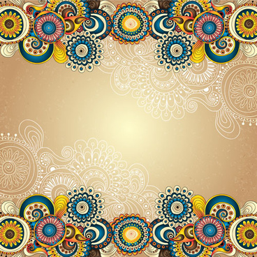 ethnic pattern styles art background vector