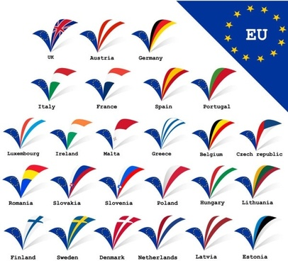eu signs and symbols 02 vector