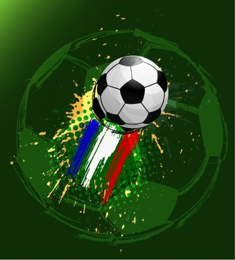 euro cup12 soccer background vector