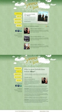 europe and the united states web design templates psd
