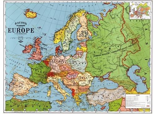 europe map 1923