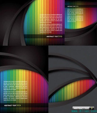 decorative background templates modern technology design colorful lights