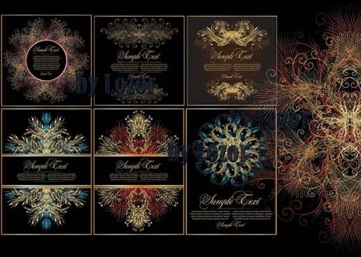 european and american classic cool fantasy texture vector