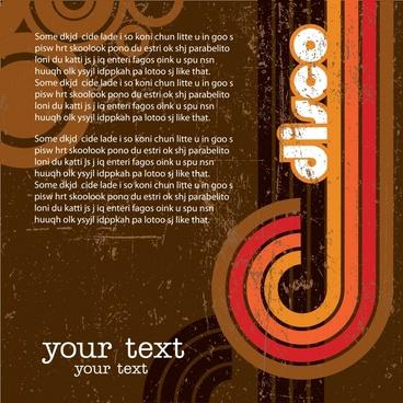 music banner abstract curves decor grunge vintage design