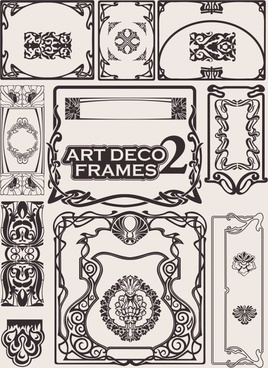 decorative elements templates classical elegant symmetric seamless shapes