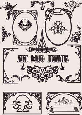 decorative elements templates retro european shapes